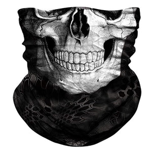 3d Neck Scarf Skull Face Mask Seamless Motorcycle Scarf  Bandana