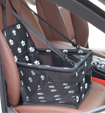 Pet Dog Car Carrier Seat Bag Waterproof Basket Folding Hammock Pet Carriers Bag For Small Cat Dogs Safety Travelling Mesh
