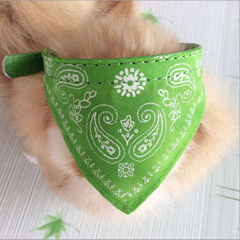 Paisley Pattern Adjustable Bandana Neckerchief Dog Collar