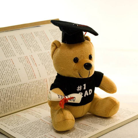 #1 Graduate Bear  Plush Toy With Diploma in Hand
