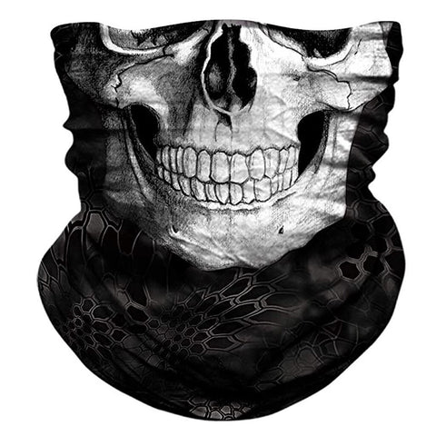 Image of 3d Neck Scarf Skull Face Mask Seamless Motorcycle Scarf  Bandana