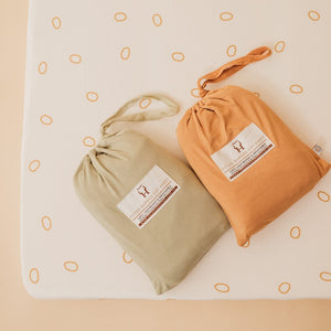 Fitted Cot Sheet - Ginger Spot