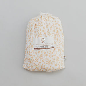 Fitted Cot Sheet - Meadow
