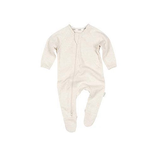 Organic Onesie Long Sleeve Dreamtime Oatmeal