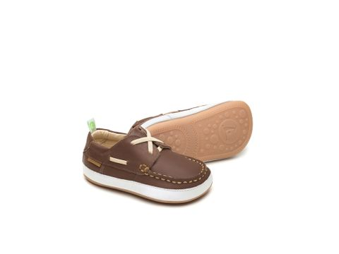 Boaty (Slip On) - Old Brown/White
