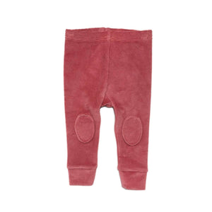 Dark Pink Knee Patch - (Baby-Kid) Tights