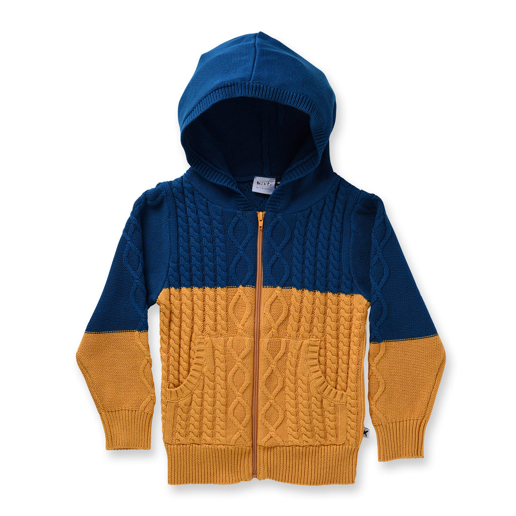 Cable Knit Zip Up