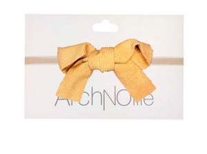 Corded Bow Single Elastic Headband - 5 Coloours