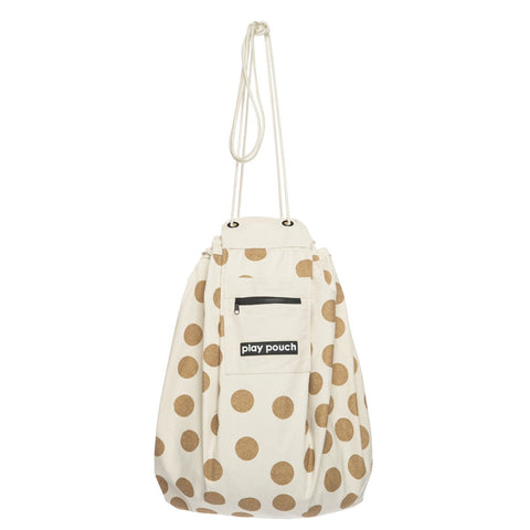 Glitter Gold Dots Play Pouch