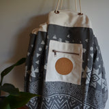 Tribal Painted Play Pouch in Charcoal