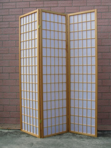 3 Fold Natural Wooden Screen