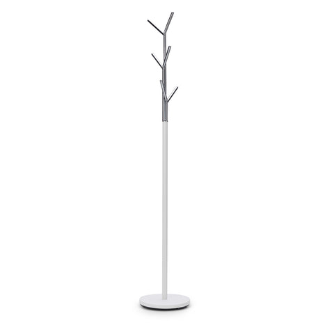 Stella White Chrome Coat Rack