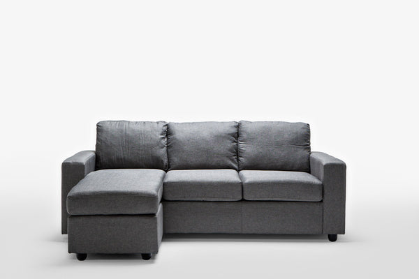 Ella Grey Reversible L Shape Sofa - Sofa Culture
