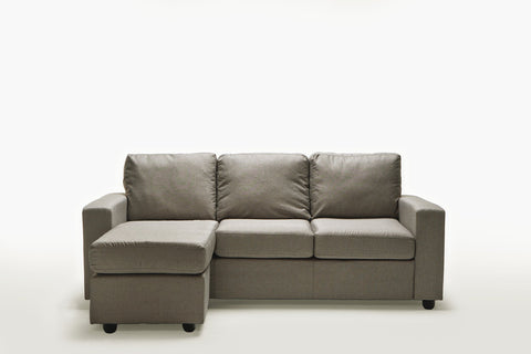 Ella Rice Grey Reversible L Shape Sofa - Sofa Culture