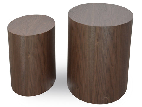 Coffee Table Pair Dark Brown