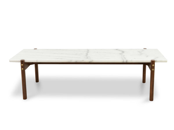Sticotti Marble Coffee Table - Walnut Legs - Sofa Culture