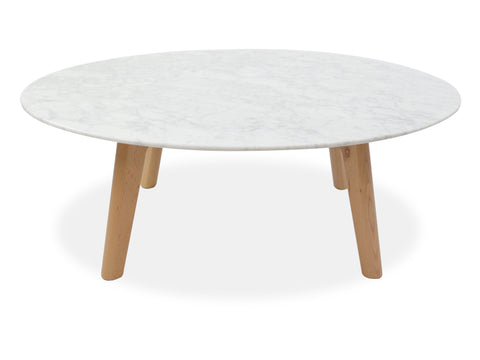 Hunter Marble Coffee Table - Natural - Sofa Culture