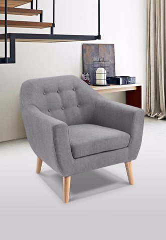 Chaz 1 Seater Chair (Rounded Back) - Sofa Culture