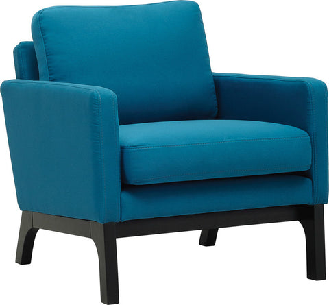 Cove Single Seater Ebony/Teal Fabric - Sofa Culture