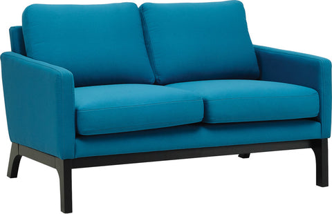 Cove Twin Seater Ebony/Teal Fabric - Sofa Culture