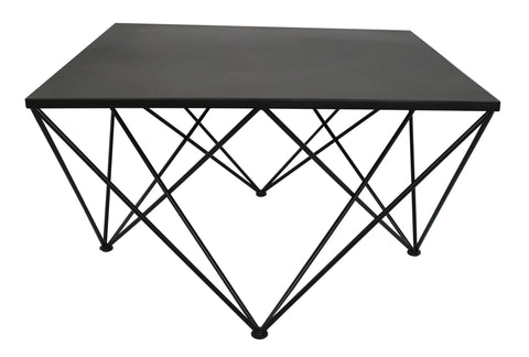 Diamond Square Coffee Table Black