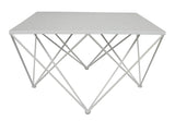 Diamond Square Coffee Table White - Sofa Culture