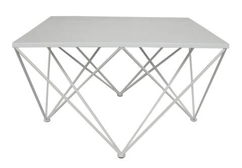 Diamond Square Coffee Table White