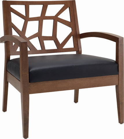 Jenifer Lounge Chair Cocoa/Espresso - Sofa Culture