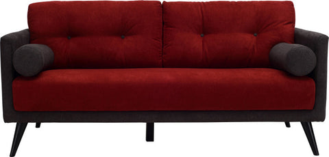 Lancer 2 Seater Sofa Black/Dark Grey/Crims