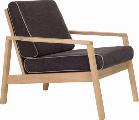 Latio Lounge Chair Natural/Seal/Dolphin - Sofa Culture