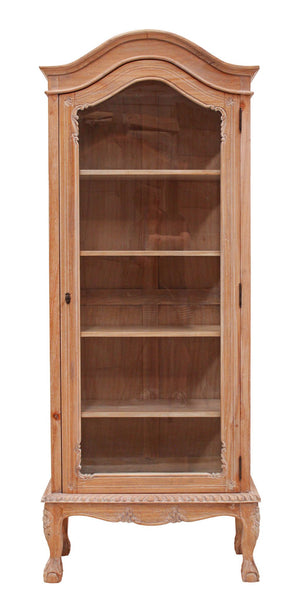 French Display Cabinet Weathered Oak Single Door
