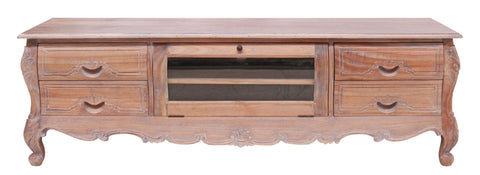 Weathered Oak French Provinicial TV Cabinet