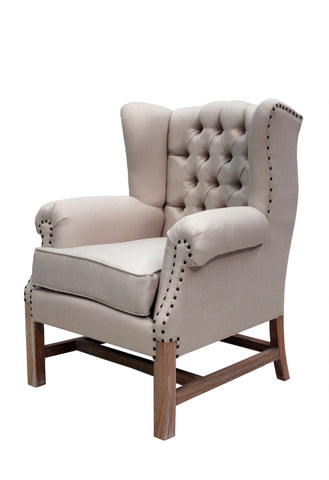 Paris Wing Chair Weathered Oak