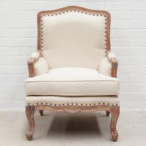 Weathered Oak Italian Armchair