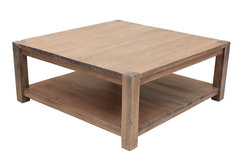 Paris Weathered Oak Square Coffee Table