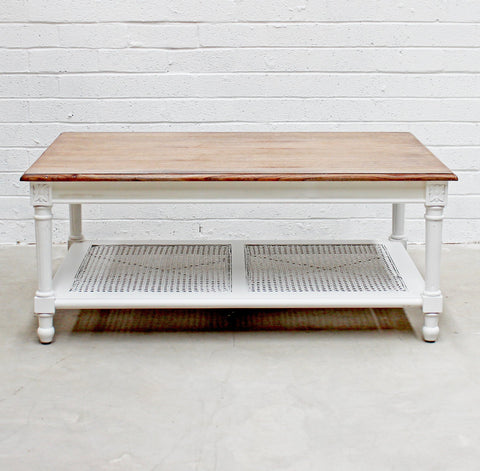 Marseille Coffee table White and Oak