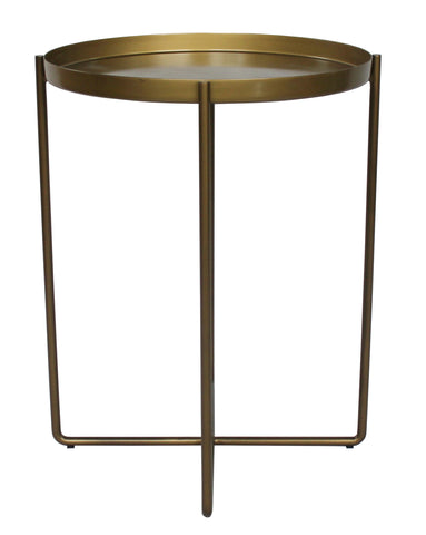 Circular Quay Side Table Gold Brass
