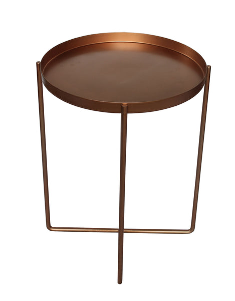 Circular Quay Side Table Rose Gold - Sofa Culture