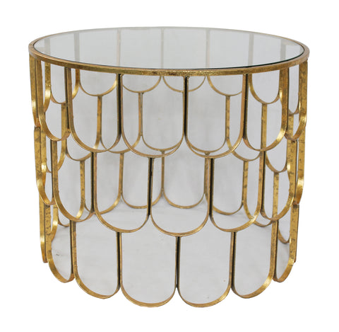 U Side Table Gold Foil