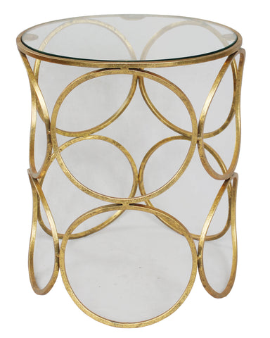 Ring Side Table Gold Foil - Sofa Culture