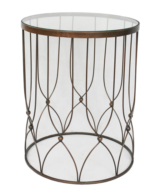 Treviso Side Table Glass Top - Sofa Culture