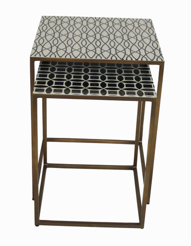 Moroccan Nesting Tables 2 Piece - Sofa Culture