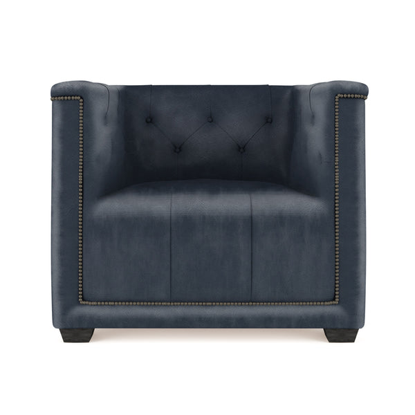 Hudson Chair - Blue Print Vintage Leather