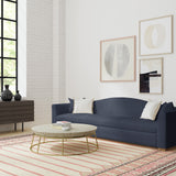 Horatio Sofa - Blue Print Box Weave Linen