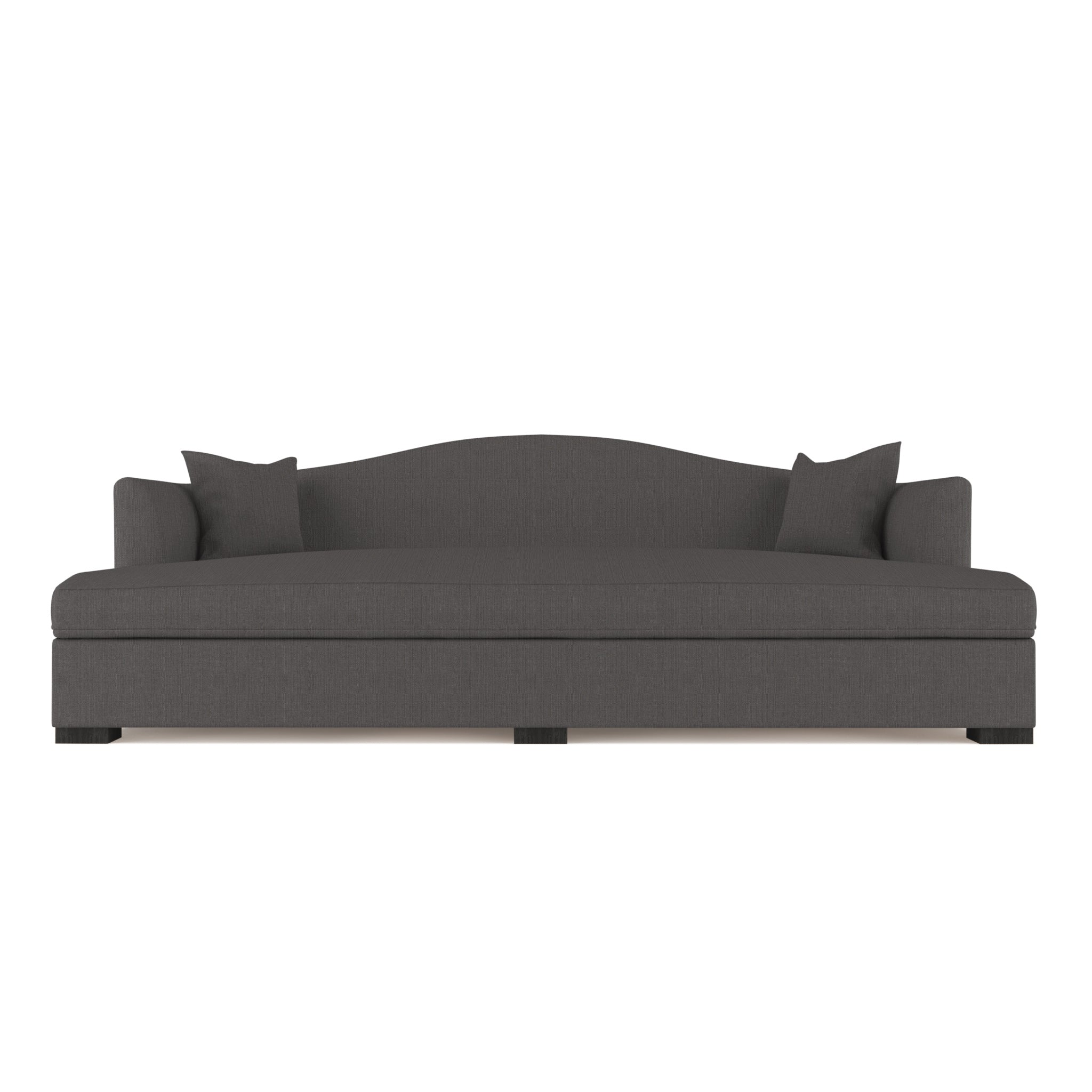Horatio Daybed - Graphite Box Weave Linen