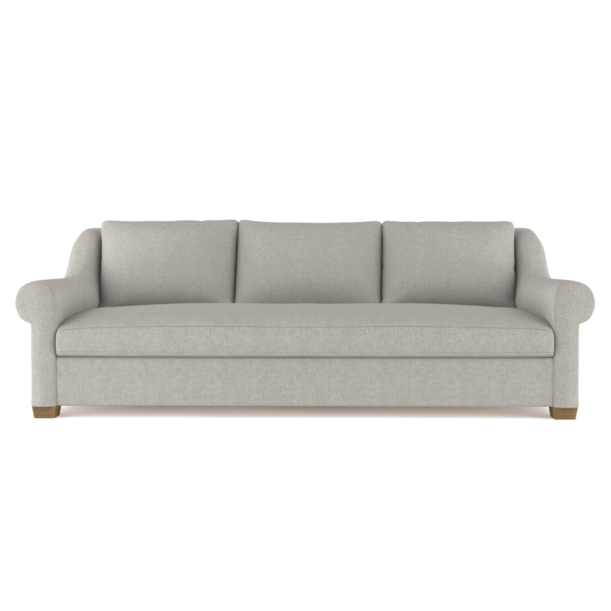 Thompson Sofa - Silver Streak Box Weave Linen
