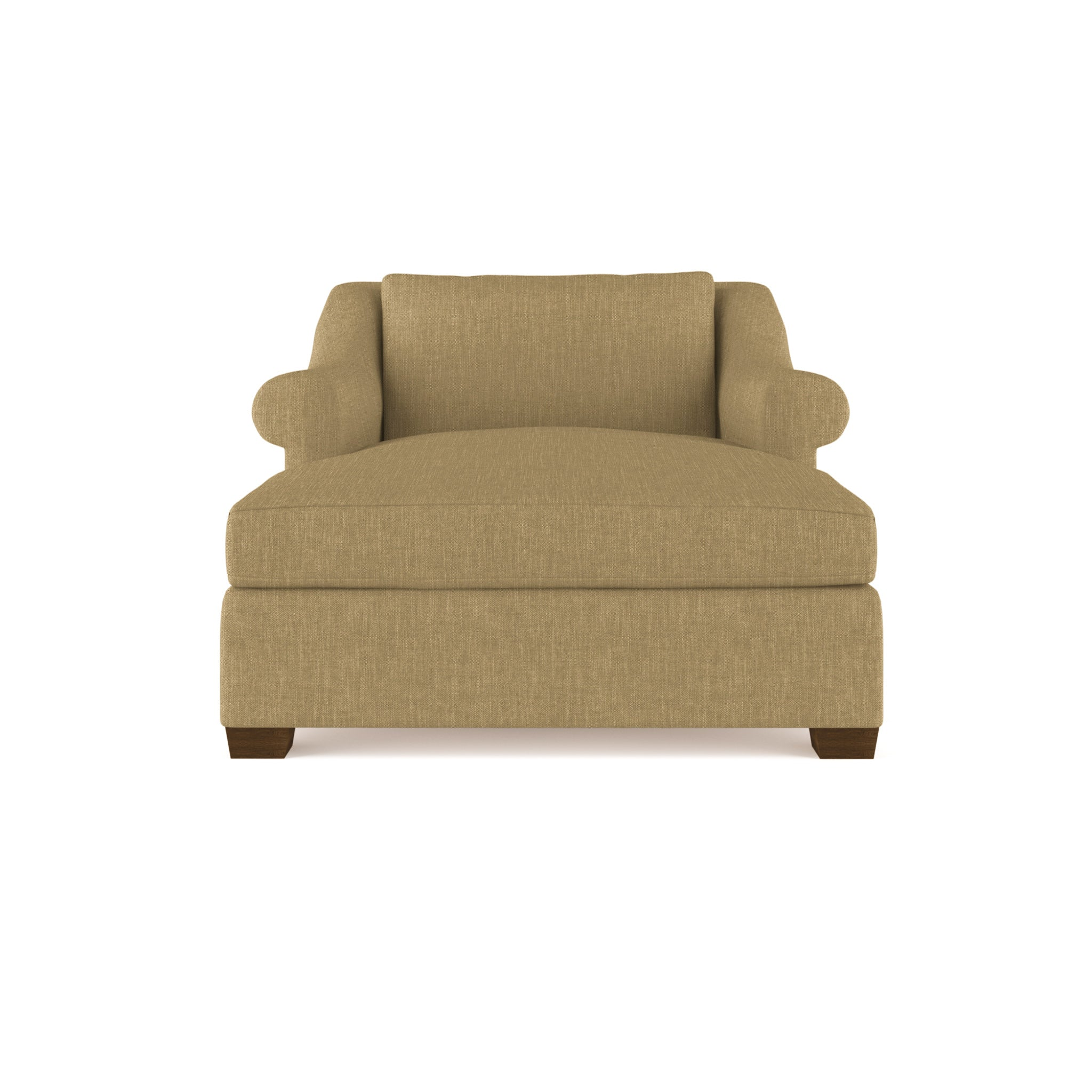 Thompson Chaise - Marzipan Box Weave Linen