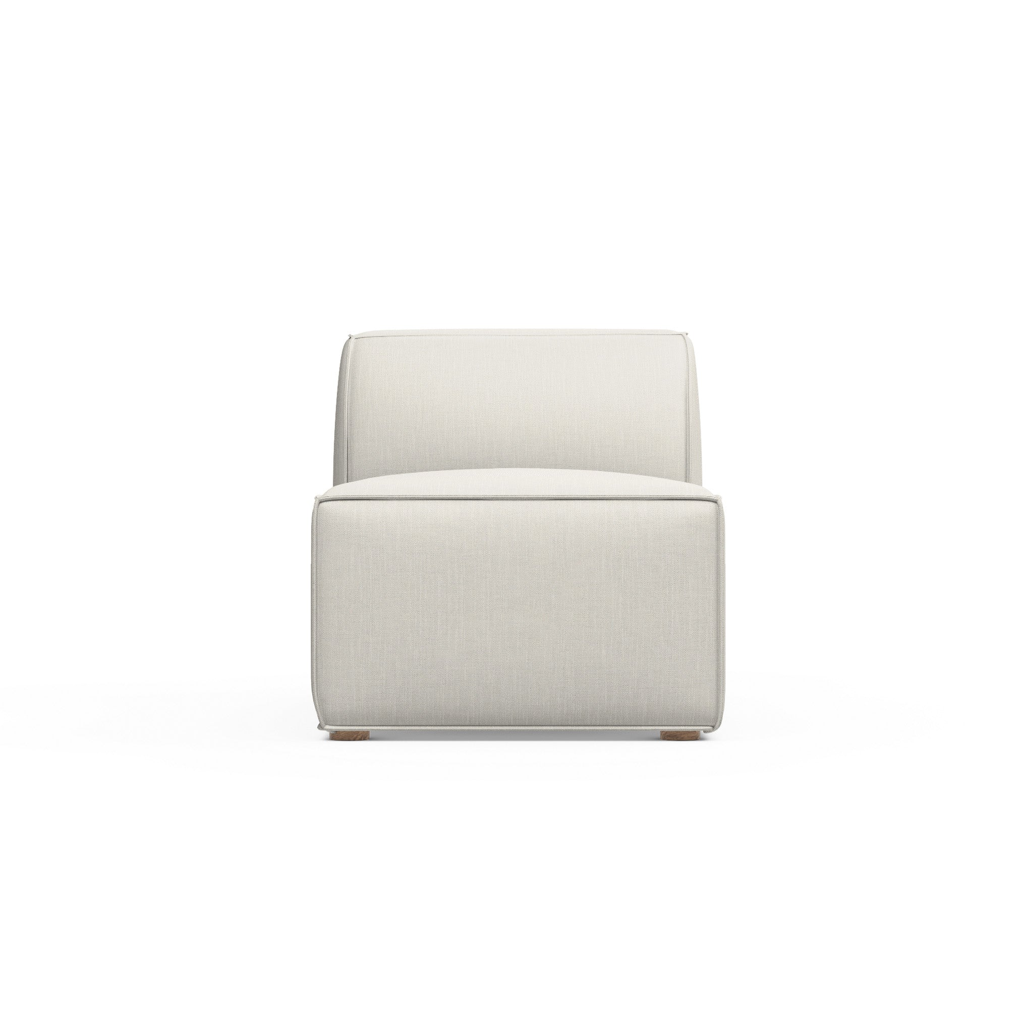 Varick Armless Chair - Alabaster Box Weave Linen