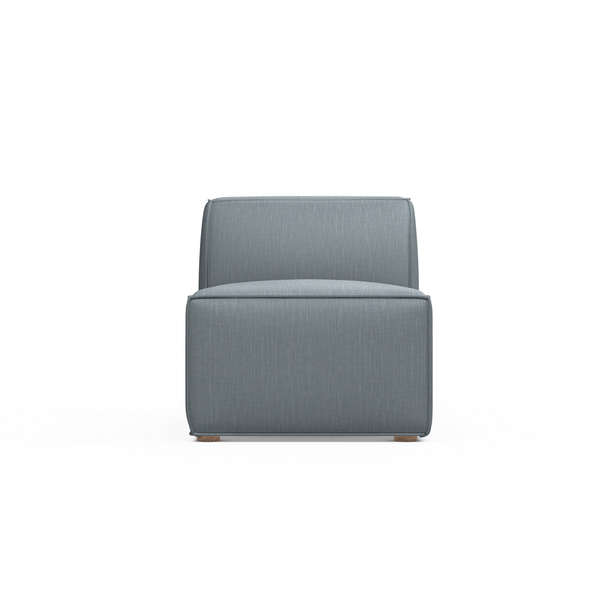Varick Armless Chair - Haze Box Weave Linen