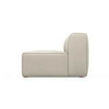 Varick Armless Chair - Oyster Box Weave Linen